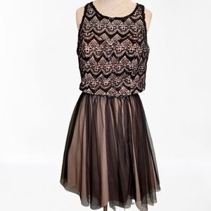 My Michelle 2 pc Prom Dress Black Sequin Size 16